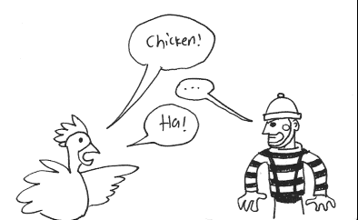 Chicken vs. Mime