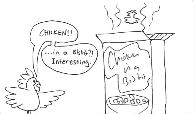 Chicken vs. Chicken-In-A-Biskit, Part 1