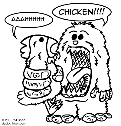 Chicken vs. Hungry Sasquatch