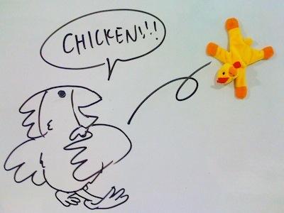 Chicken vs. Shot Put