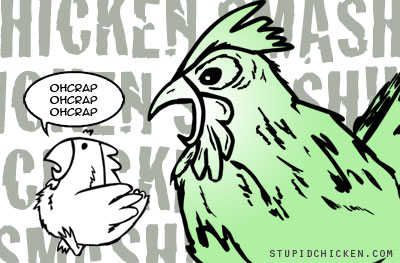 Chicken vs. Giant Irradiated Attack Rooster